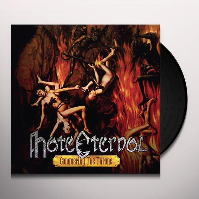 Hate Eternal CONQUERING THE THRONE Vinyl Record