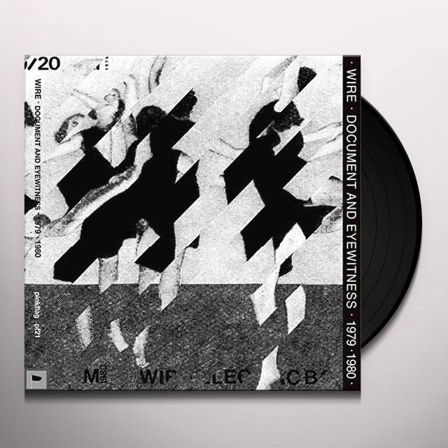 Wire DOCUMENT & EYEWITNESS 1979-1980 Vinyl Record - Gatefold Sleeve