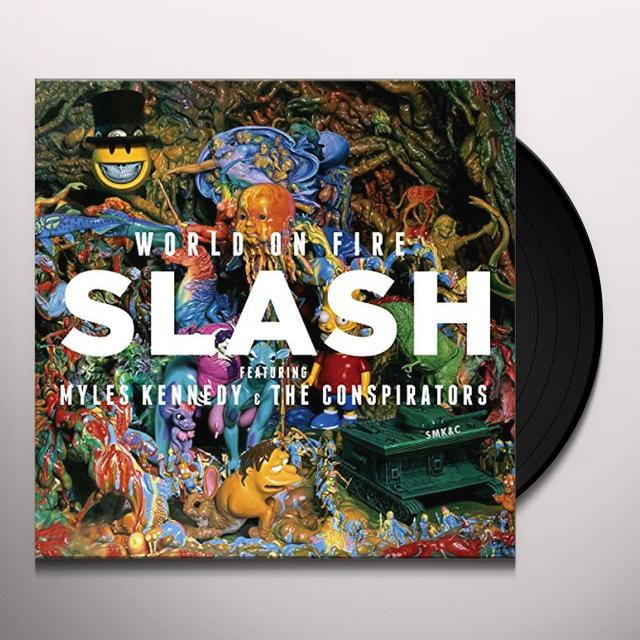 Slash / Myles Kennedy & The Conspirators WORLD ON FIRE Vinyl Record