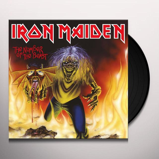 Iron Maiden NUMBER OF THE BEAST Vinyl Record - Limited Edition