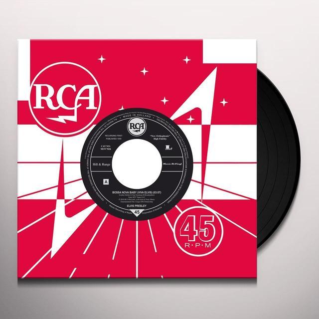 Elvis Presley BOSSA NOVA BABY Vinyl Record - Canada Release