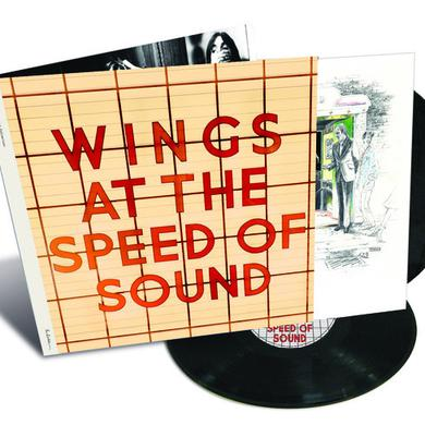 Paul McCartney And Wings AT THE SPEED OF SOUND Vinyl Record
