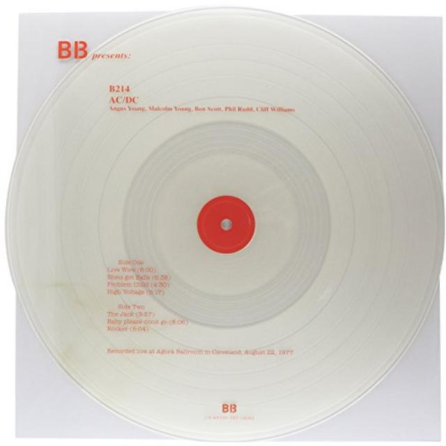 AC/DC LIVE AT AGORA' BALLROOM IN CLEVELAND AUGUST 22 197 Vinyl Record