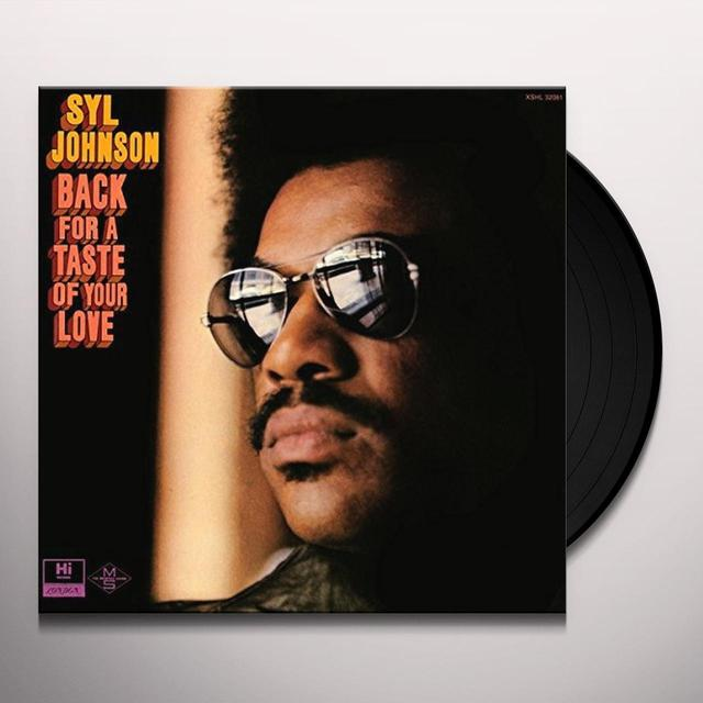Sly Johnson BACK FOR A TASTE OF YOUR LOVE Vinyl Record - UK Release