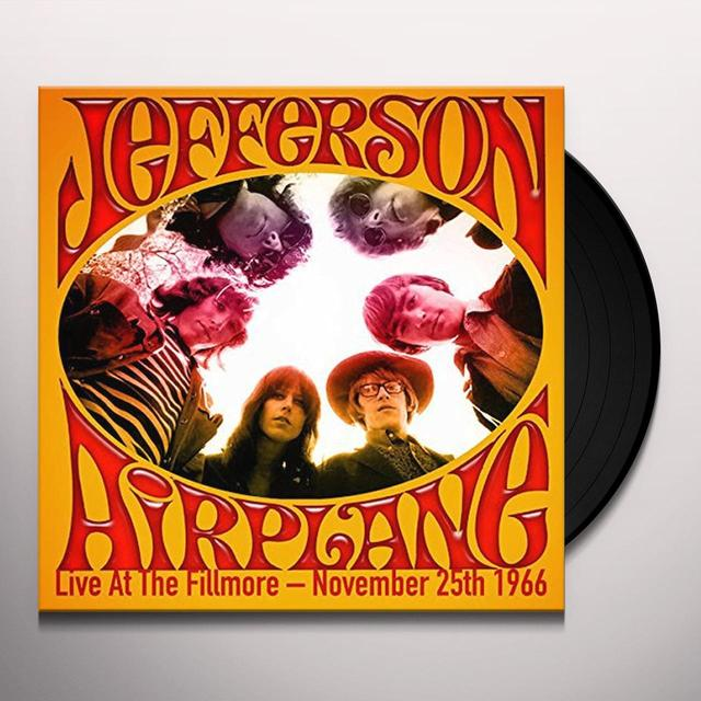 Jefferson Airplane LIVE AT THE FILLMORE-NOVEMBER 25TH 1966 Vinyl Record