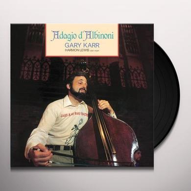Gary Karr ADAGIO DALBINONI Vinyl Record - 180 Gram Pressing