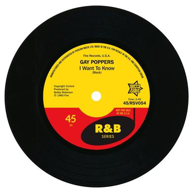 GAY POPPERS I WANT TO KNOW / YOU GOT ME UP TIGHT Vinyl Record