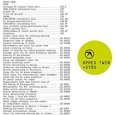 Aphex Twin SYRO Vinyl Record