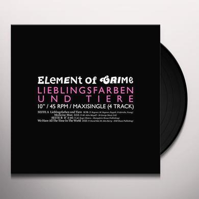 Element Of Crime LIEBLINGSFARBEN & TIER (GER) Vinyl Record