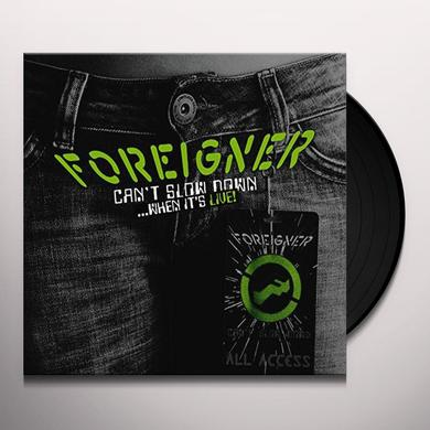Foreigner CAN'T SLOW DOWN Vinyl Record - UK Import