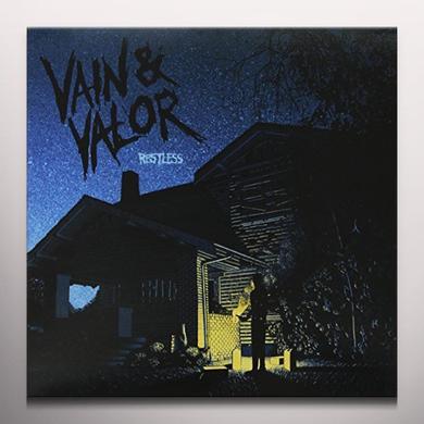 VAIN & VALOR RESTLESS Vinyl Record - w/CD, Blue Vinyl