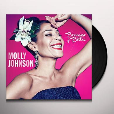 Molly Johnson BECAUSE OF BILLIE Vinyl Record - Canada Import