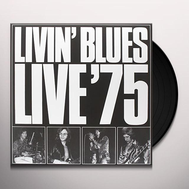 LIVIN' BLUES LIVE '75 Vinyl Record - Italy Import