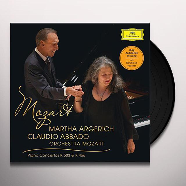 MOZART / ARGERICH / ABBADO / ORCHESTRA MOZART PIANO CONCERTO NO 25 & NO 20 Vinyl Record
