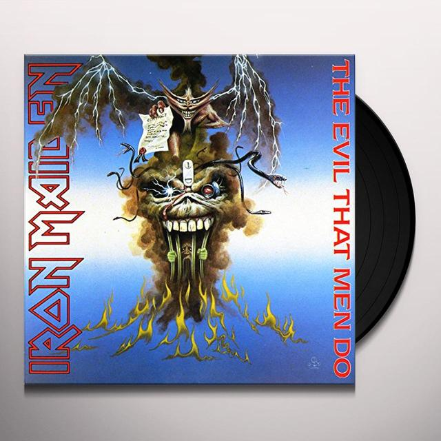 Iron Maiden EVIL THAT MEN DO Vinyl Record - Limited Edition