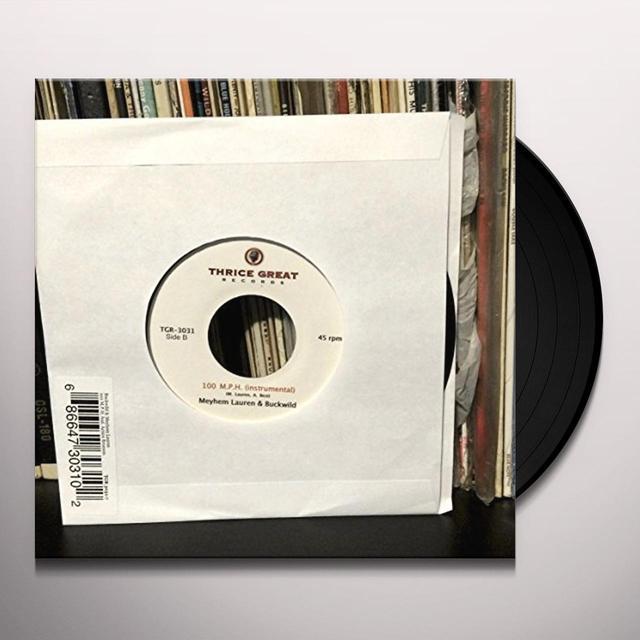 Buckwild & Lauren Meyhem 100 MPH (FEAT. ACTION BRONSON) Vinyl Record