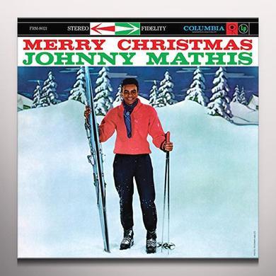 Johnny Mathis MERRY CHRISTMAS Vinyl Record - Colored Vinyl, Gatefold Sleeve, Limited Edition, 180 Gram Pressing, Anniversary Edition