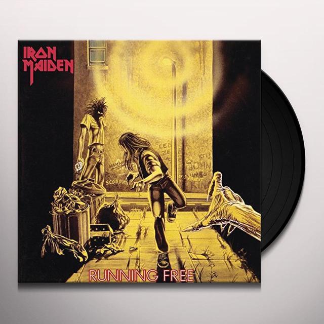 Iron Maiden RUNNING FREE Vinyl Record - UK Import
