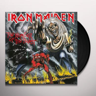 Iron Maiden NUMBER OF THE BEAST Vinyl Record - UK Import