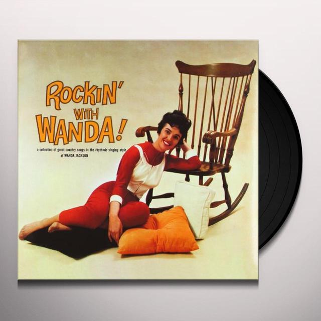 Wanda Jackson ROCKING WITH WANDA Vinyl Record - Italy Release