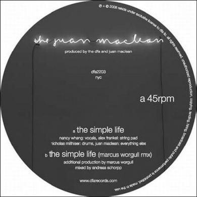 Juan Maclean SIMPLE LIFE Vinyl Record