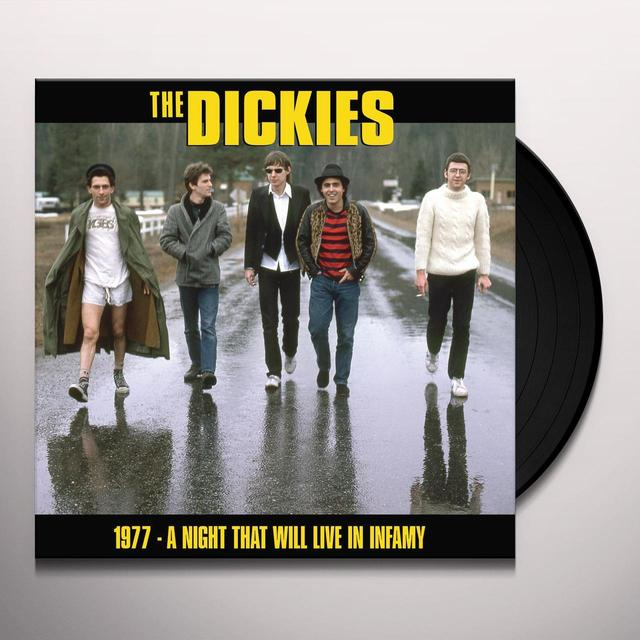 The Dickies NIGHT THAT WILL LIVE IN INFAMY 1977 Vinyl Record