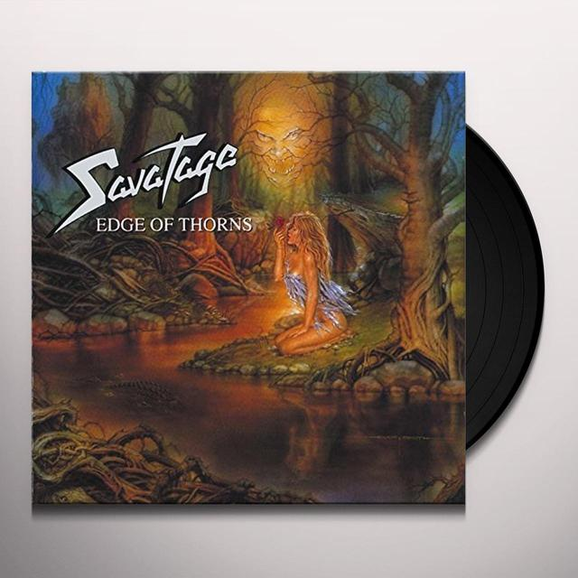 Savatage EDGE OF THORNS Vinyl Record - UK Import