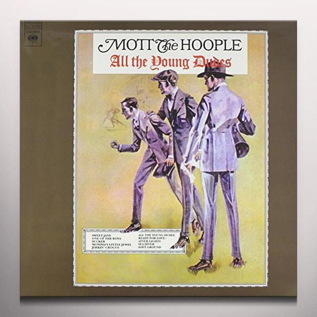 Mott The Hoople ALL THE YOUNG DUDES Vinyl Record - Limited Edition, Red Vinyl