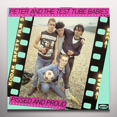 Peter and the Test Tube Babies PISSED & PROUD Vinyl Record - Limited Edition, Pink Vinyl