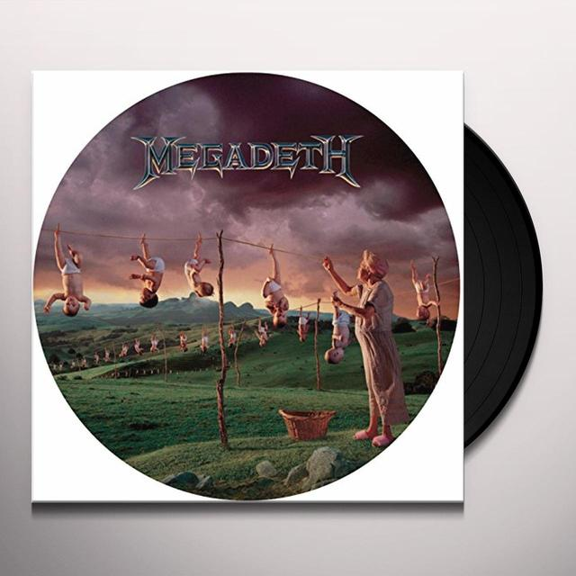 Megadeth YOUTHANASIA Vinyl Record - Picture Disc