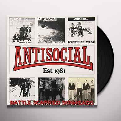 ANTISOCIAL BATTLE SCARRED SKINHEADS (THE BEST OF) Vinyl Record