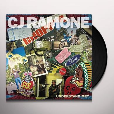 Cj Ramone UNDERSTAND ME Vinyl Record - UK Import