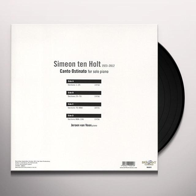 Jeroen van Veen TEN HOLT: CANTO OSTINATO FOR SOLO PIANO (UK) (Vinyl)