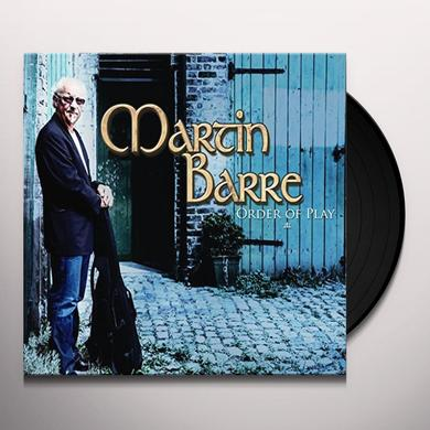 Martin Barre ORDER OF PLAY Vinyl Record