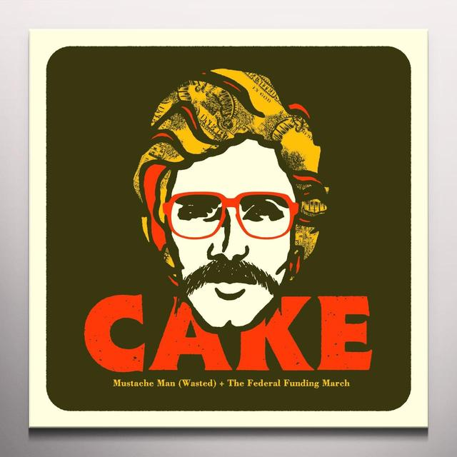 Cake MUSTACHE MAN (WASTED) Vinyl Record - Colored Vinyl