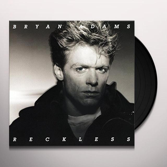 Bryan Adams RECKLESS (BONUS TRACKS) Vinyl Record - Anniversary Edition, Remastered