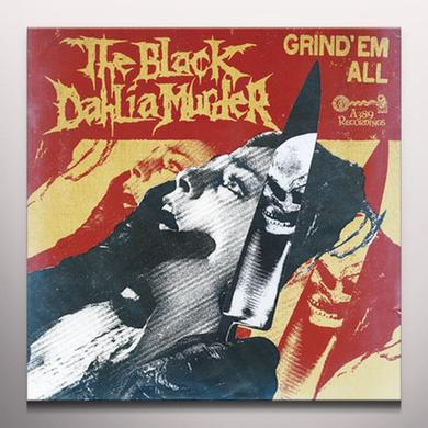The Black Dahlia Murder GRIND EM ALL Vinyl Record - Colored Vinyl