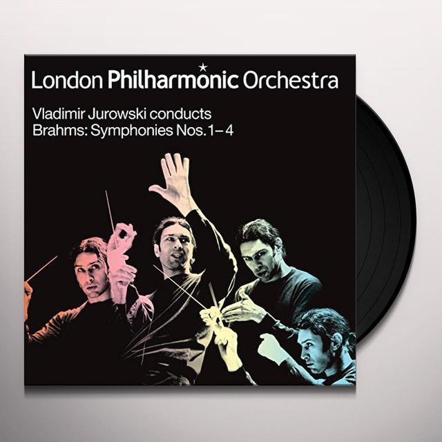 BRAHMS / JUROWSKI / LONDON PHIL ORCH SYMS 1-4 Vinyl Record