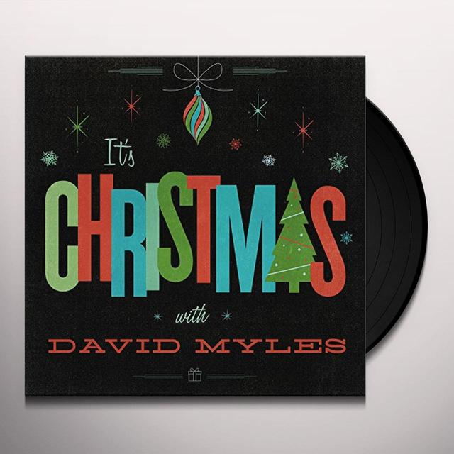 David Myles IT'S CHRISTMAS Vinyl Record