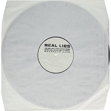 Real Lies WORLD PEACE / DEEPER-THE REM Vinyl Record