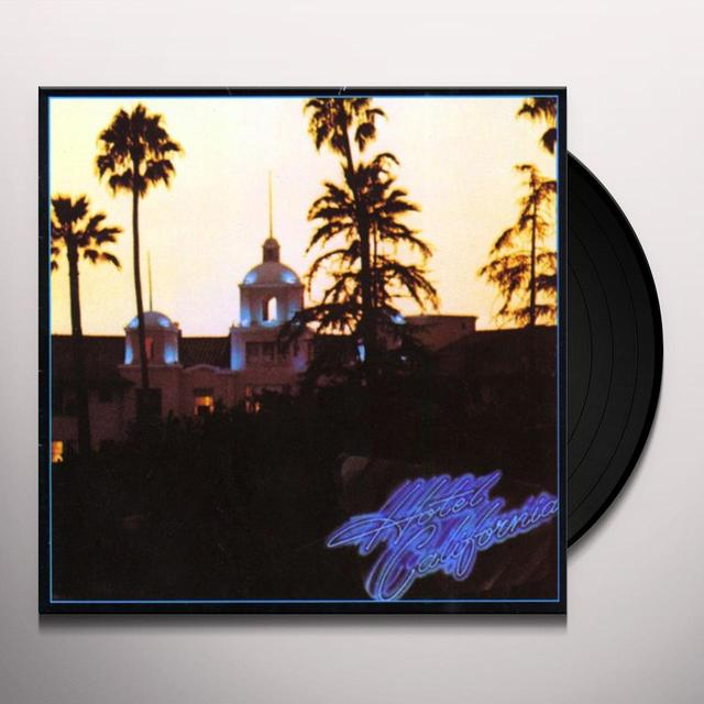 The Eagles and Glenn Frey HOTEL CALIFORNIA Vinyl Record - UK Release