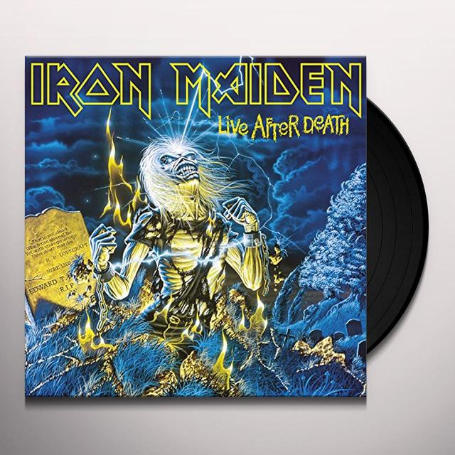 Iron Maiden LIVE AFTER DEATH Vinyl Record - UK Import