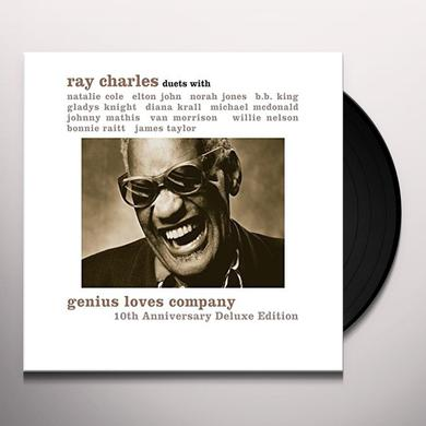Ray Charles GENIUS LOVES COMPANY 10TH ANNIVERSARY Vinyl Record - Anniversary Edition