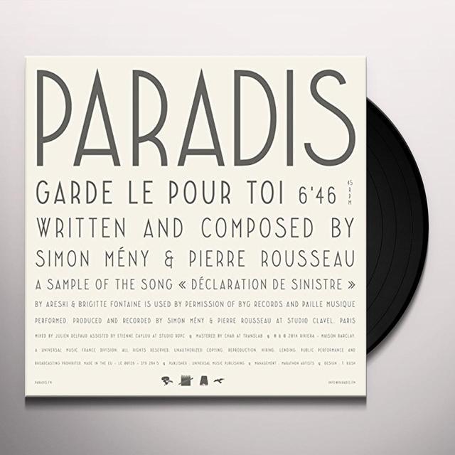 Paradis GARDE-LE POUR TOI Vinyl Record