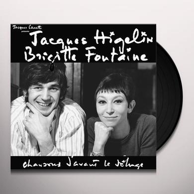 Brigitte Fontaine & Jacques Higelin CHANSONS D AVANT LE DELUGE Vinyl Record