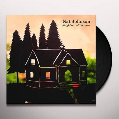 Nat Johnson NEIGHBOUR OF THE YEAR Vinyl Record - 10 Inch Single, Clear Vinyl