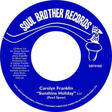 Carolyn Franklin SUNSHINE HOLIDAY / DEAL WITH IT Vinyl Record