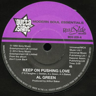 Al Green KEEP ON PUSHING LOVE / YOUR HEART'S IN GOOD HANDS Vinyl Record