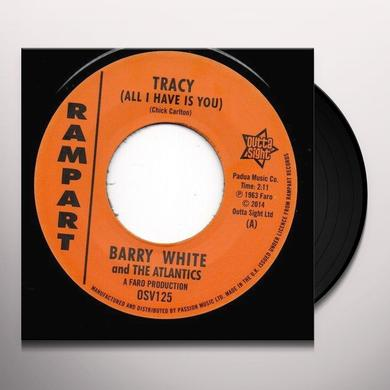 Barry White TRACY / IT HURTS ME Vinyl Record - UK Import