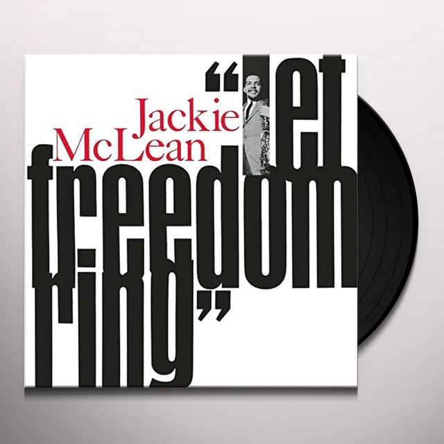 Jackie Mclean LET FREEDOM RING Vinyl Record